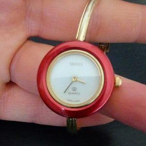 Authentic Vintage Gucci bracelet watch.